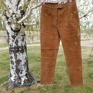 !!!NWT!!! St. John's Bay Suede Leather Pants Sz 6